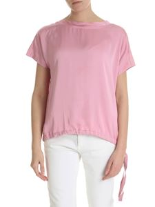 Semicouture - Pink t-shirt with drawstring