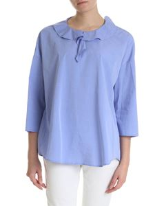 Semicouture - Light blue shirt with ruffles