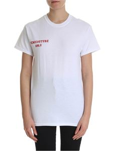 Semicouture - White t-shirt with Semicouture logo