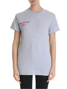 Semicouture - Gray t-shirt with Semicouture logo