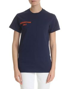 Semicouture - Blue t-shirt with Semicouture logo