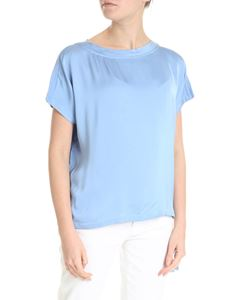 Semicouture - Light-blue T-shirt with drawstring