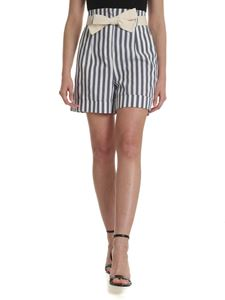 Semicouture - Ivory shorts with striped pattern