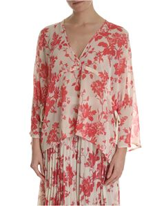 Semicouture - Nude blouse with floral print
