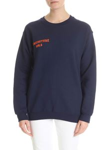 Semicouture - Blue sweatshirt with Semicouture logo