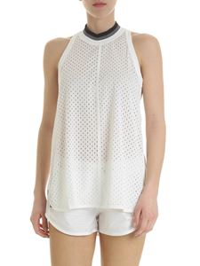 Adidas by Stella McCartney - Trainning top in white mesh