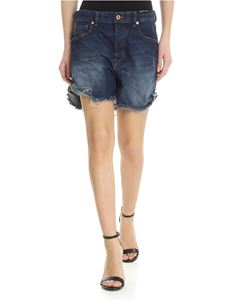 Diesel - Shorts in dark blue jeans