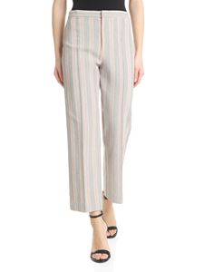 Pinko - Tecla trousers in beige woven cotton