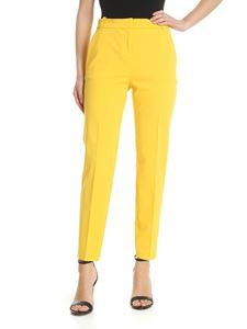 Pinko - Bello yellow trousers in Milano fabric