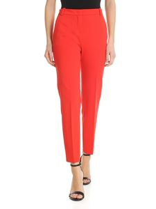 Pinko - Bello red trousers in Milano fabric
