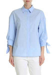 Pinko - Facile shirt in light blue cotton poplin