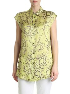 Pinko - Odilia shirt in yellow viscose twill