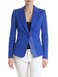 Pinko - Slim jacket in Interlook blue electric