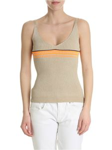 Pinko - Yale ribbed beige top