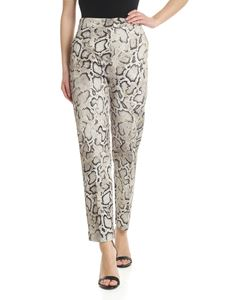 Pinko - Theodora trousers with beige snake print