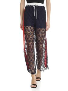 Pinko - Noto trousers in blue macramé