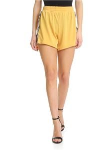 Chiara Ferragni - Mustard-colored shorts with side bands