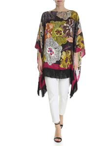 Etro - Multicolor floral patterned poncho