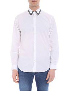 Versace - Versace white shirt with branded collar