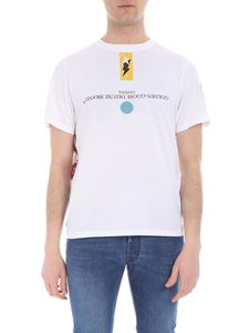 Golden Goose Deluxe Brand - T-shirt GGDB bianca con patch
