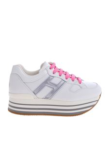 Hogan - H283 sneakers in white and silver