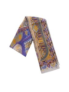 Etro - Pashmina in yellow and lilac silk