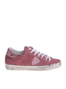 Philippe Model - Paris S glittered sneakers in pink