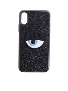 Chiara Ferragni - Eye Cover for i-Phone X in black glitter