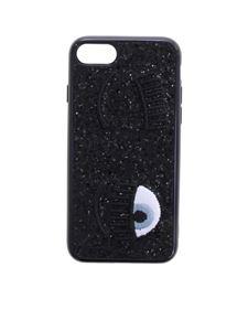 Chiara Ferragni - Black glittered Flirting cover for i-Phone 7 and 8