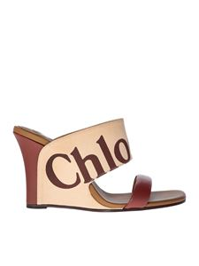 Chloé - Beige sandals with logo
