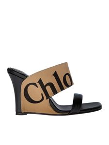 Chloé - Black sandals with logo