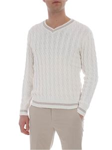 Eleventy - Cream-colored cotton pullover