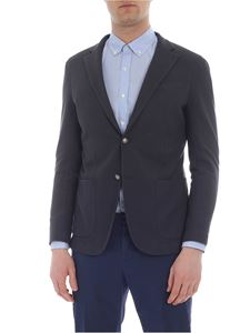 Eleventy - Grey jacket in knitted cotton
