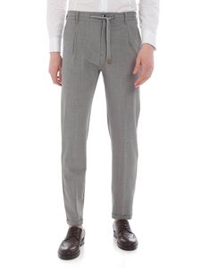 Eleventy - Grey melange wool trousers