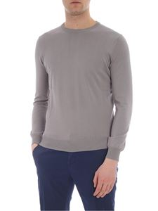 Kangra Cashmere - Dove-colored pullover with patches
