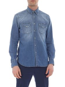Eleventy - Blue denim shirt