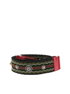 Orciani - Soft Bone shoulder strap in green and black fabric
