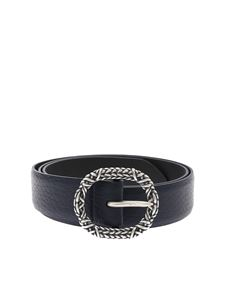 Orciani - Blue soft belt with buckle