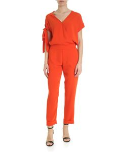 Parosh - Orange Parosh suit in cady
