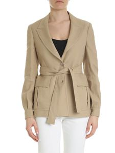 Eleventy - Beige Eleventy jacket with belt