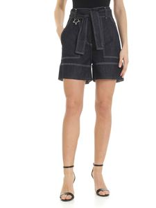 Lorena Antoniazzi - Dark blue denim shorts with star
