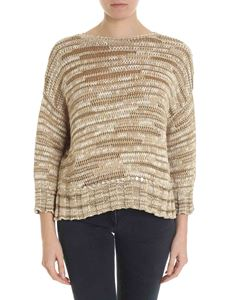 Lorena Antoniazzi - Boxy pullover in shades of brown