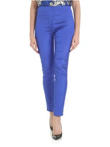 Parosh - Parosh trousers in blue shantung