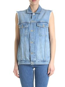 Dondup - DonDup waistcoat in light blue denim