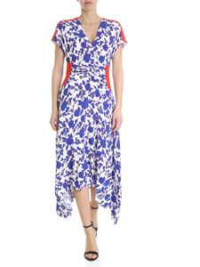 Pinko - Posato white dress white blue floral pattern