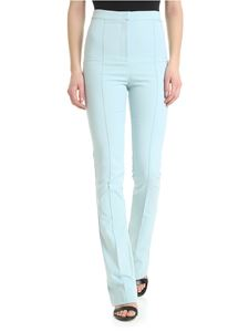 Patrizia Pepe - Light-blue trousers with veins