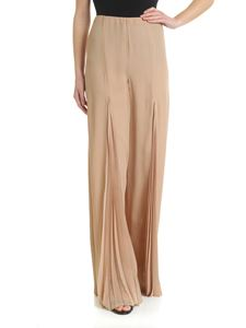Patrizia Pepe - Beige palazzo trousers with pleated detail