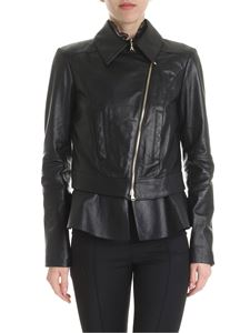 Patrizia Pepe - Black genuine leather jacket with zip