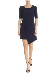 Patrizia Pepe - Blue dress with crossover detail