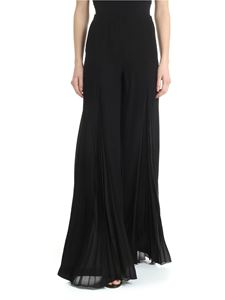 Patrizia Pepe - Black palazzo trousers with pleated detail